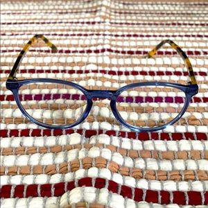 Muse eyeglasses blue and tortoise frame